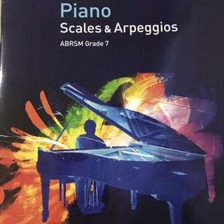 ABRSM Grade 7 Piano Scales & Arpeggios