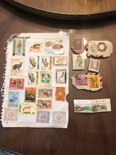 Vintage Stamps Singapore 1973 1970 Ethiopian