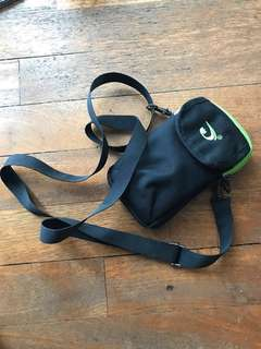 Black Small Bag with Lime Green lining with Belt Holster