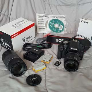 USED CANON 500D SET + 75-300MM LENS