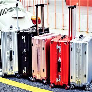 Aluminium Alloy Scratch Resistant Retro Series Luggage Suitcase, Rimowa inspired design and function