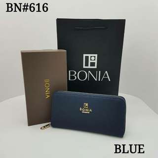 Bonia Zippy Wallet Navy Blue Color