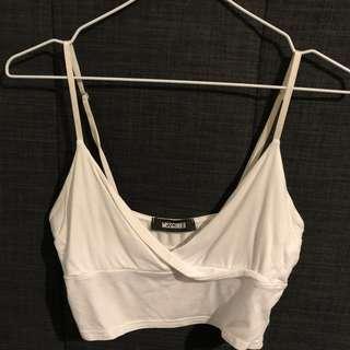 White Bralette Shirt
