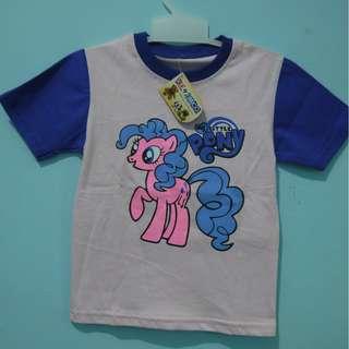 kaos anak my little pony pink biru