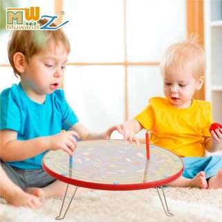 Wood ball children two in one magnetic iron maze bead educational toys