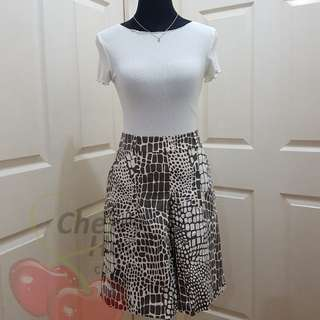 Brick Print Skirt