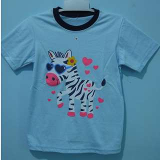 kaos anak zebra biru