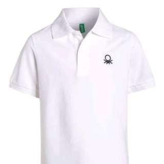 White Benetton Polo Shirt
