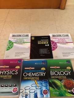 LOWER SECONDARY SCIENCE ASSESSMENT BOOKS