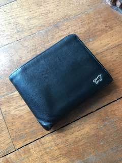 BRAUN BUFFEL GERMANY AUTHENTIC Black Leather Wallet