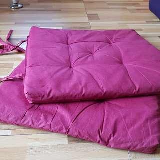 SALE! Set of 2 Seat Cushion w/ Tie Straps (Malaysia)