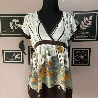 Bangkok brown flower Top