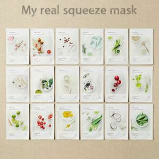PO/INSTOCK Innisfree My Real Squeeze Masks