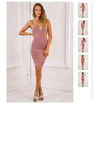 Plum bodycon dress