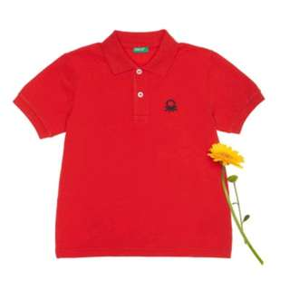 Red Benetton Polo Shirt