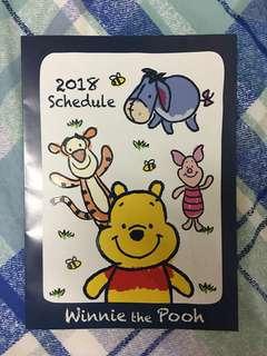 Winnie the Pooh 2018 schedule
