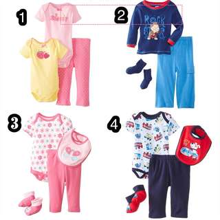 BN Bon Bebe/ Sesame Street Baby Boy/Girl 3-4 Pcs Gift Set 0-12mths!
