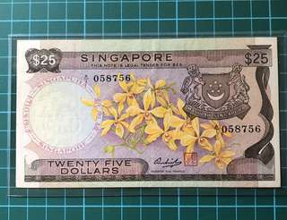 A/1 1st prefix Orchid Series $25 Banknote signed Hon SS