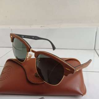 RayBan Clubmaster Wood Brown RB3016M