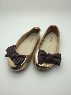 GAP Girls Shoes 14cm with bow, Copper gold