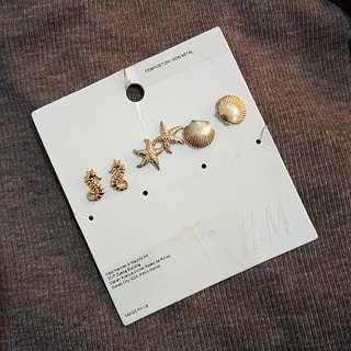 Ocean themed earring set