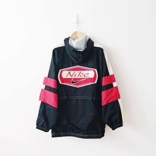 Nike Rare Vintage Embroidery Logo Windbreaker Hoodie Jacket