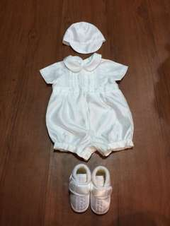 Baptismal set (baby boy) 3-6 months
