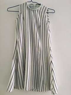 Stripe flare dress A-line 斯文裙