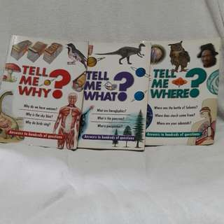 Tell Me Why,What & Where Book