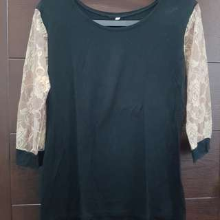 Rose Printed Sheer Sleeved Top