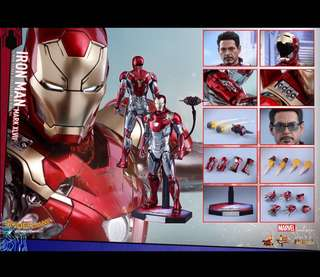 收Hottoys Ironman mk mark 47 XLVIl MMS427 diecast 合金版