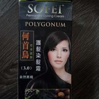 SOFEI 舒妃 草本護髮 染髮霜(何首烏)-3.0 自然黑褐(含運)