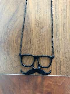Glasses + Moustache Necklace