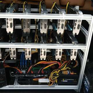 12 x New mining rig #rx 580 or #rx 570 8gb 360mhs++