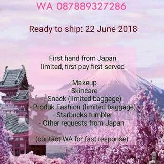 Preorder Item Jepang