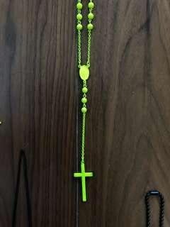 Neon Yellow Rosary