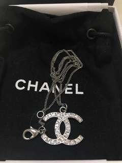 100%Real,銀色方石Chanel 頸鏈90%new