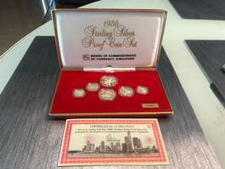 1986 Sterling silver proof coin set 11317