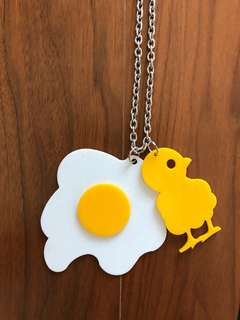 Egg + Chick Necklace