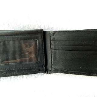 Old Leather Wallet Black