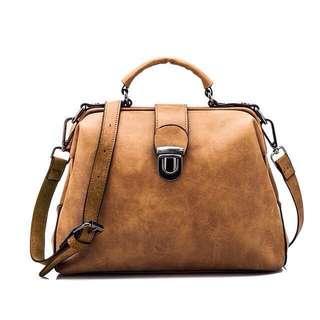 Paula Nubuck Leather Doctor Handbags Women Shoulder Sling Bag#fesyen50
