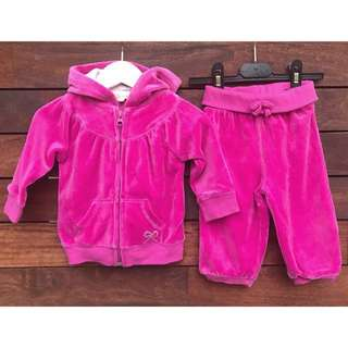 Cotton On Baby Girls Velvet sporty outfit