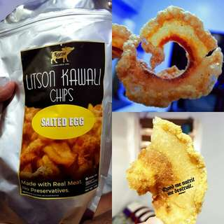 Letchon kawali chips