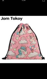 Unicorn drawstring bags/ wet or dry bag for kids
