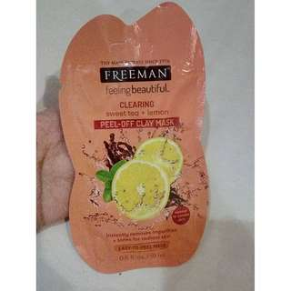 Freeman Clearing Sweet Tea Lemon Peel Off Clay Mask Sample 15 ml