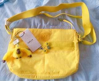 Yellow Kipling Angie Handbag/Crossbody Bag