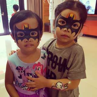 Face painting -🦇 superheroes
