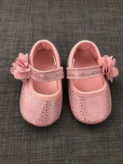 Mothercare Pink Corsage Ballerina Prewalker Shoes