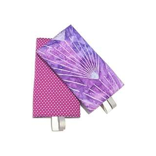 Flange Batik with Purple Polka Dots in Reverse Straight Drool Pads