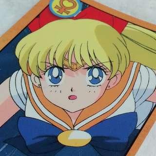 美少女戰士:Sailor Venus 燙字 白咭 No.120 Bandai  1994